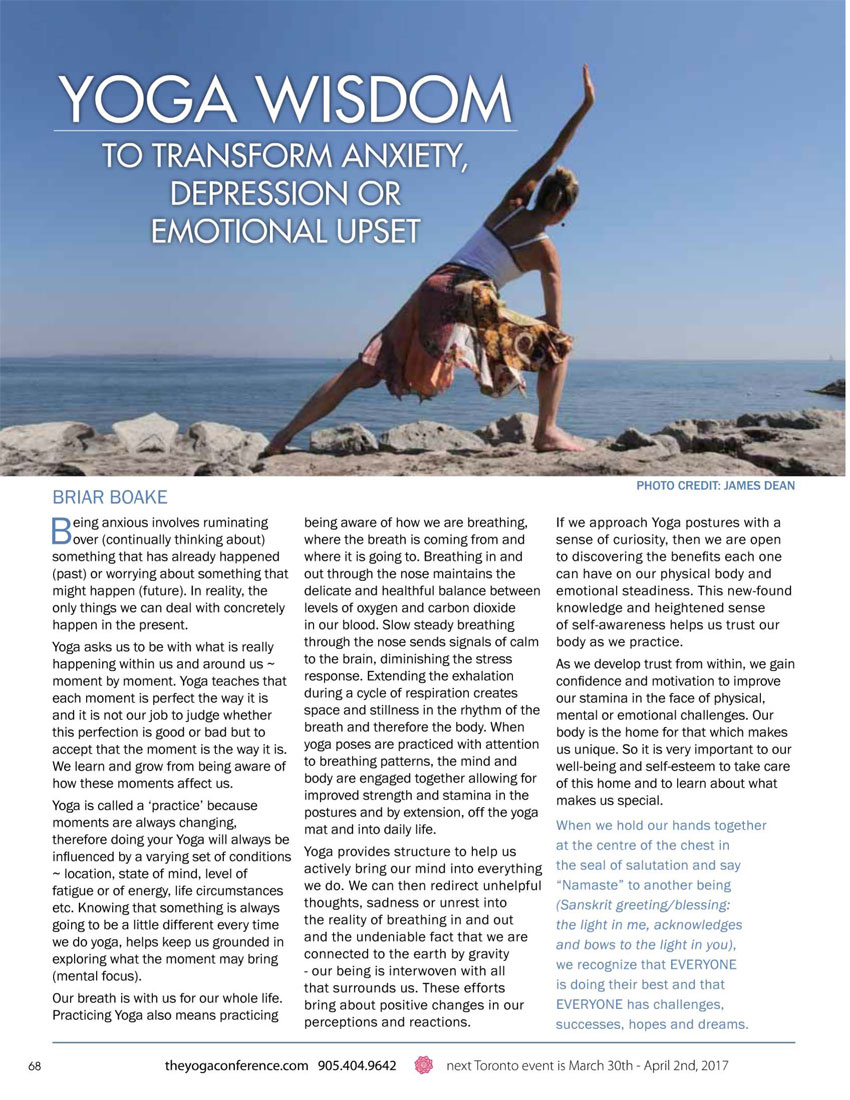 Click for PDF from the Yoga Conference brochure